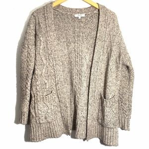 Madewell Marled Panel Stitch Open Front Knit Med